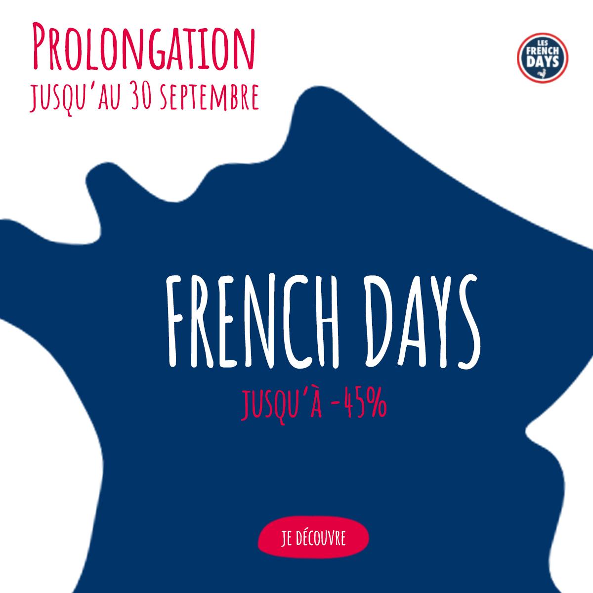 French Days pour bénéficier de 45% sur la literie Adulte et Senior, et 20% sur les literies enfant, bébé, sommier, surmatelas et accessoires.