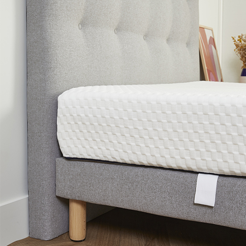 Tête de lit + sommier + matelas Made in France
