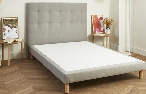 Tête de lit grise capitonnée Made in France